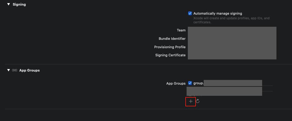 Group名はGroup.com.sample.CoreDataTestのようにします。