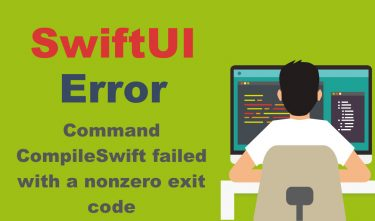 [SwiftUI] Command CompileSwift failed with a nonzero exit codeのエラー対策